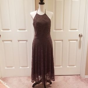 Gather and Gown lace halter dress